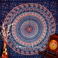Buy Luxury Blue Indian Mandala Tapestry Wall Hanging Hippie