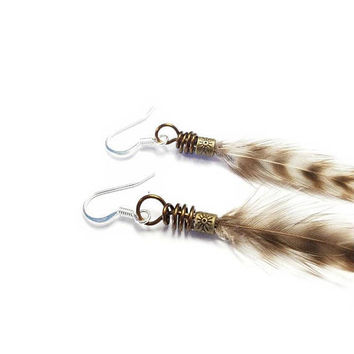 Real Feather Earrings, Simple Feather Earrings, Long Feather, Hair Extension Feathers, Feather Jewelry, Natural Feathers, Fishing Feathers