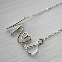 Supermarket: Script Letter Alphabet Couple Name Initials Love Wire Silver Gold Necklace - Delicate Simple Modern Jewelry - PROUD, lovers by 5050 STUDIO from 5050 Studio