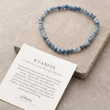 Kyanite Mini Gemstone Energy Bracelet