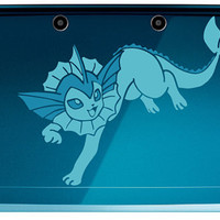 Pokemon Eeveelutions, Vaporeon 2 color 3ds or 3ds XL Decal