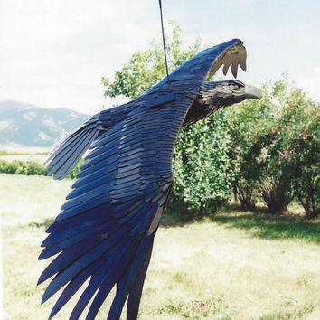 Bald Eagle Metal Sculpture, Steel Sculpture, Wildlife Artwork, Metal Art