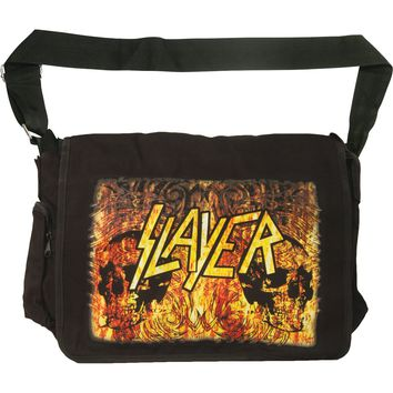 Slayer Flames Messenger Bag Black
