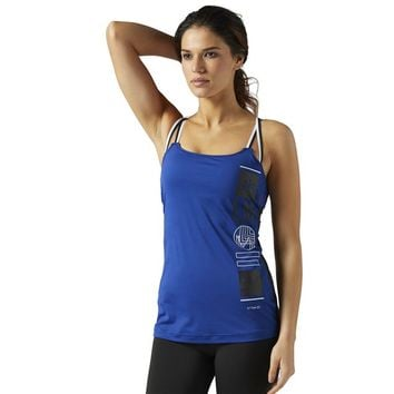 LES MILLS ACTIVCHILL Tank With Built In Padded Sports Bra