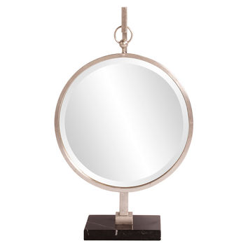 Mirrors, Medallion Standing Mirror, Silver, Wall Mirrors
