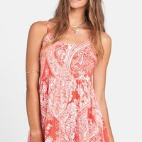 Junior Women's Billabong 'Day Dreamy' Print Swing Dress,