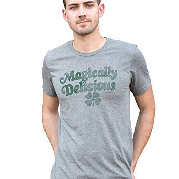 Superluxe™ Mens Magically Delicious Tri-Blend St Patricks Day T-Shirt