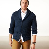 AE KNIT ELBOW PATCH CARDIGAN