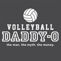 Volleyball Dad Shirt Dark Heather