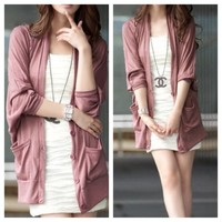 Pink Button Up Cardi