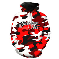 Michael Jordan Chicago Bulls 23 Red Camouflage Hoodie