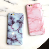 New Hot Wine Red Pink Marble Soft TPU Skin Shell For iPhone 6 6s plus Stylish Cute Unique Phone Cover Cases Girls free shipping