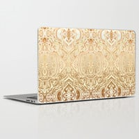 Tribal Swirl Pattern in Neutral Tan and Cream Laptop & iPad Skin by Micklyn