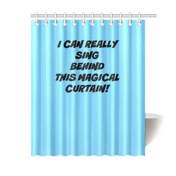 UNIQUE NOVELTY SINGING IN THE SHOWER CURTAIN 6 COLORS