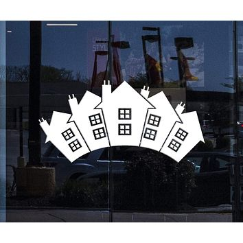 Window Vinyl Wall Decal Realtor Real Estate Agencies Houses Building Stickers Unique Gift (1990igw)