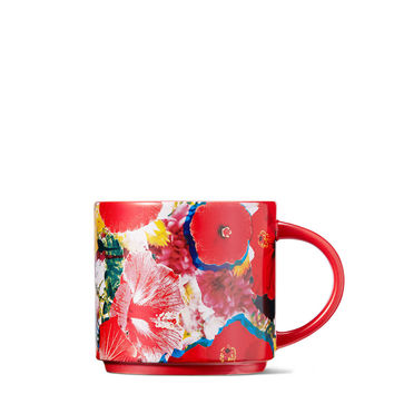 Red Floral Stacking Mug