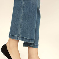 Lucille Black Suede Pointed Flats