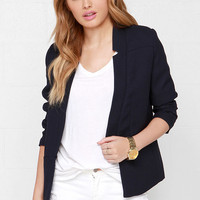 Sugarhill Boutique Spring Navy Blue Blazer