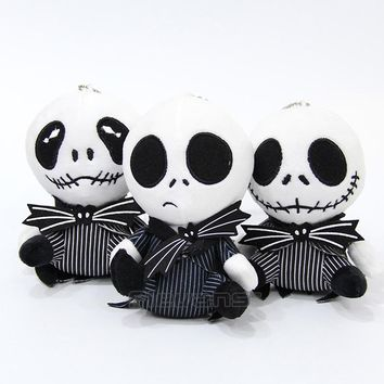 The Nightmare Before Christmas Jack Skellington Plush Toy Soft Stuffed Doll Gift for Children 13cm 3 Styles 10pcs/lot