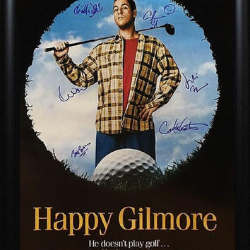 Happy Gilmore - Signed Movie Poster in Wood Frame with COA