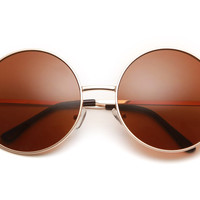 Walker Large Circle Frame Sunglasses