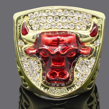 Personality Golden Champion Ring 1993 Bulls Chicago National Basketball Championship Ring for Fans Collection Souvenirs SP1612