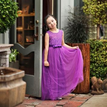 Laurelie Violet Purple Gown Dress - Toddler & Girls