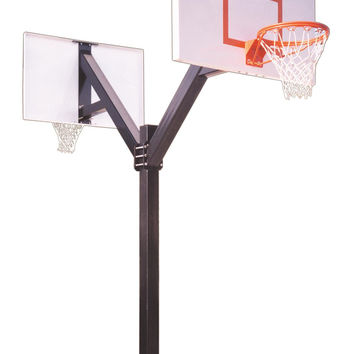 First Team Legend Jr Extreme DUAL In Ground Fixed Height Outdoor Basketball Hoop 60 inch Steel