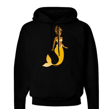 Mermaid Design - Yellow Dark Hoodie Sweatshirt