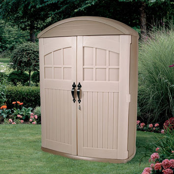 Tall Boy Outdoor Plastic Lawn Garden Tool Shed