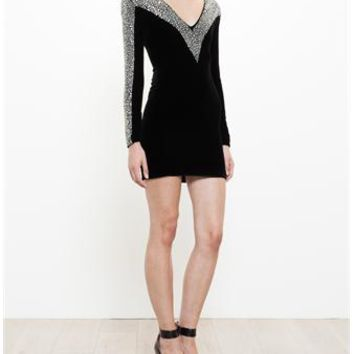 BALMAIN | Crystal Embellished Dress | brownsfashion.com | The Finest Edit of Luxury Fashion | Clothes, Shoes, Bags and Accessories for Men & Women
