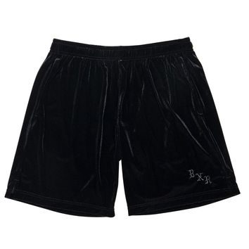 BornxRaised - Velour Shorts - Black