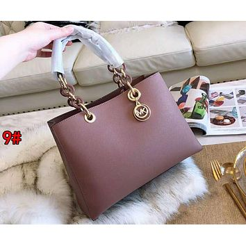 MK MICHAEL KORS Fashionable Women Shopping Bag Leather Handbag Tote Satchel Shoulder Bag 9#