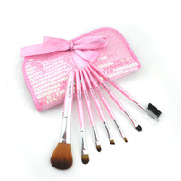 Black Portable Hot Sale 7-pcs Make-up Brush Set = 4831035076