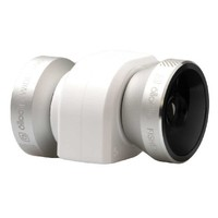 4-IN-1 olloclip for iPhone 5/5s/SE : Fisheye, Wide-Angle, 2 Macros. Color: Gold Lens/White Clip