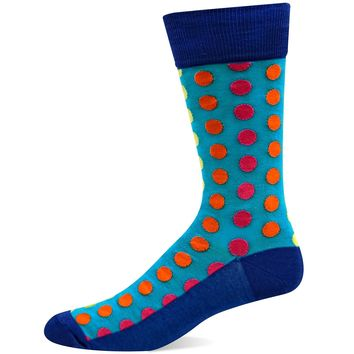 Hot Sox Mens Basics Collection Ombre Dots Slack Sock