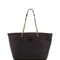 Marion Quilted Tote Bag, Black - Tory Burch