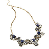Floral Faux Gem Necklace