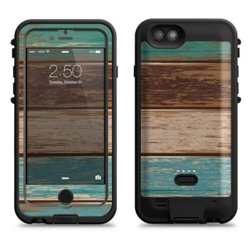 The Wooden Planks with Chipped Green and Brown Paint  iPhone 6/6s Plus LifeProof Fre POWER Case Skin Kit