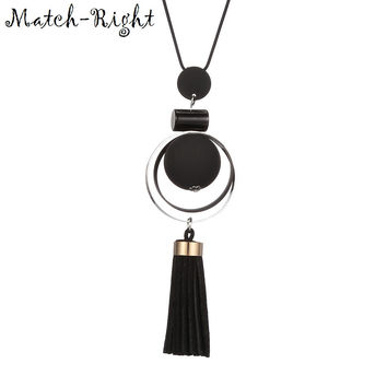 Match-Right Women Necklace Long Necklaces & Pendants Wood Beads Necklace For Women Jewelry YJZ-198