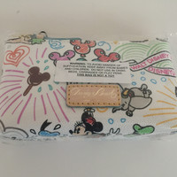 Disney Sketch Mickey Minnie Dumbo Cosmetic Case Dooney Bourke New with Tags