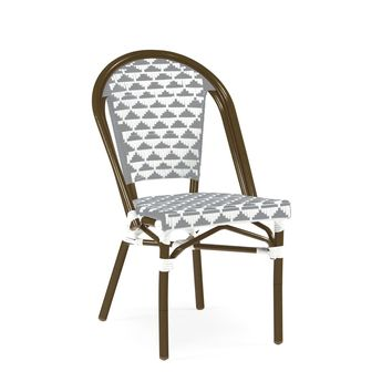 Versailles Aluminum Bamboo Stackable Side Chair