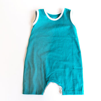 The Tank Romper // Peacock | Little Hip Squeaks