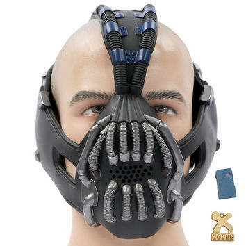Batman The Dark Knight Rises Bane Cosplay Mask Gun Metal Version With Voice Changer