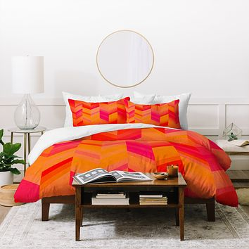 Rebecca Allen Orange Quest Duvet Cover