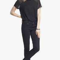 Black Mid Rise Jean Legging from EXPRESS