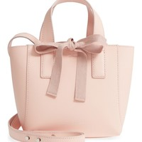 Loeffler Randall Ribbon Tie Mini Leather Shopper | Nordstrom