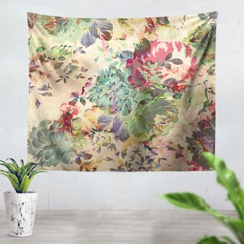 Flower Abstraction Tapestry