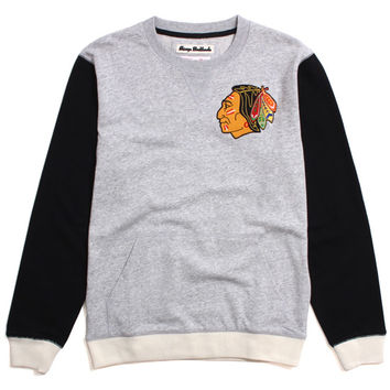 Chicago Blackhawks Team To Beat Crewneck Sweatshirt Heather Grey / Black