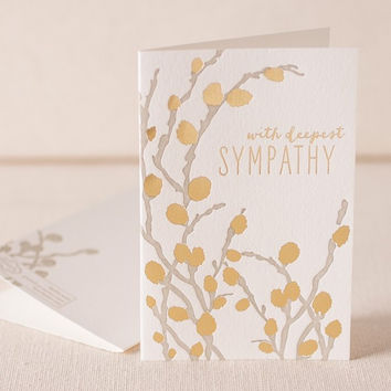 Willow Sympathy Letterpress Card